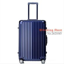 20 INCH 20242629# Pure fashion wear waterproof universal wheel aluminum  luggage suitcase #EC FREE SHIPPING