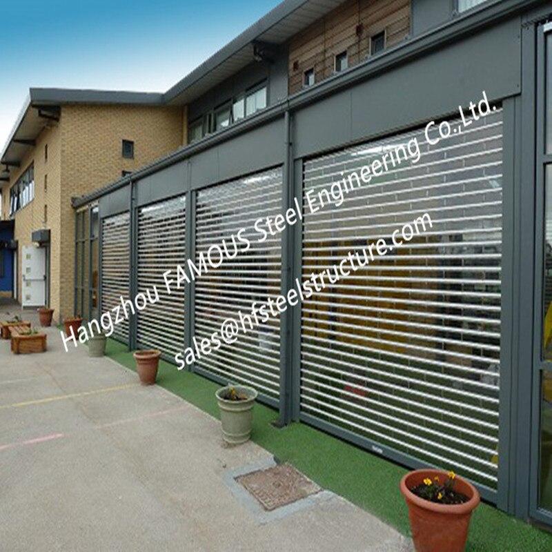 Commercial Shop Front Polycarbonate Transparent Slat Shutter Door Aluminum Roll Up Security Doors