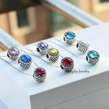 hot deal buy blue green red many colors as choice radiant hearts openwork charm 925 sterling silver loose beads diy jewelry bracelet beads