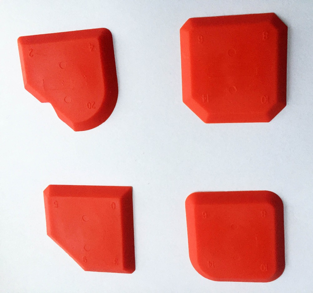 4 Pieces Per Set Sealant Buddy Silicone Scraper And Silicone Trowel By OPP Bag Made By Builders Choice Tools Limited