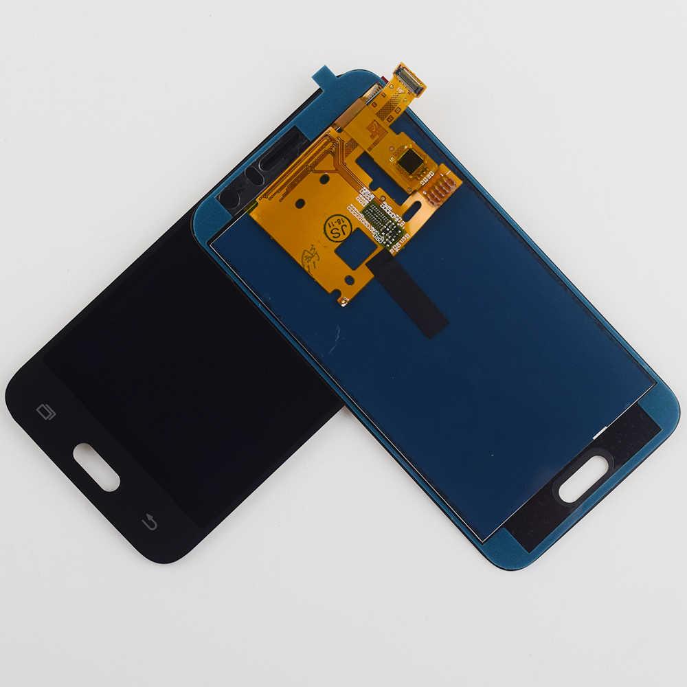 J120F LCD J1 2016 عرض محول الأرقام بشاشة تعمل بلمس الاستشعار الزجاج الجمعية لسامسونج غالاكسي J1 2016 J120 LCD J120M J120H العرض