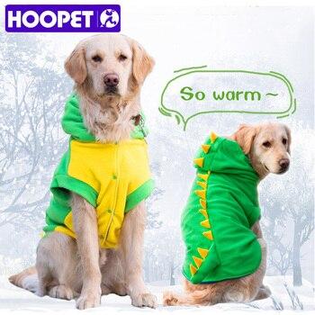 HOOPET Large Dog Velvet Dinosaur Costume Apparel Halloween Pet Warm Suit Hoodie Coat 1