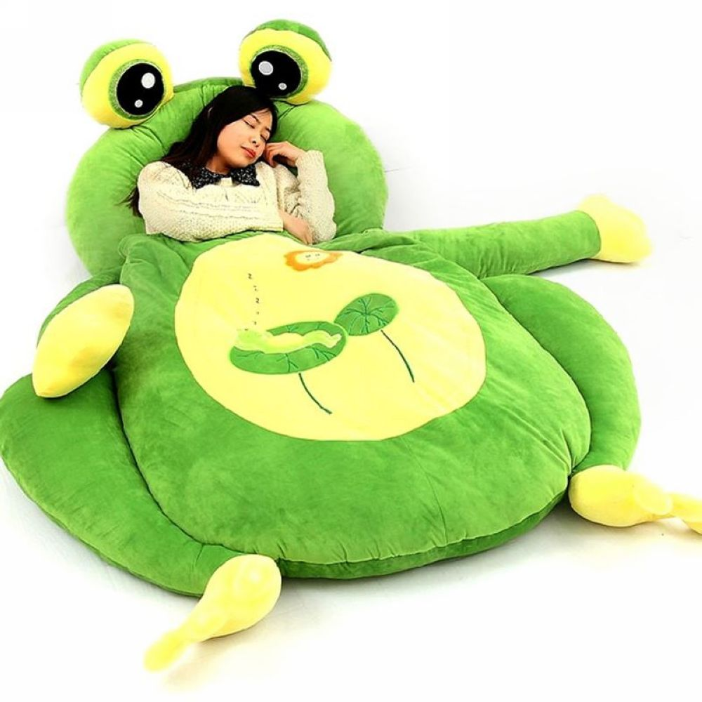 Outstanding Us 221 76 12 Off Giant Cartoon Sleeping Bag Soft Plush Animal Frog Bear Monkey Beetle Cat Beanbag Sofa Bed Carpet Tatami Mat 5 Models In Stuffed Frankydiablos Diy Chair Ideas Frankydiabloscom
