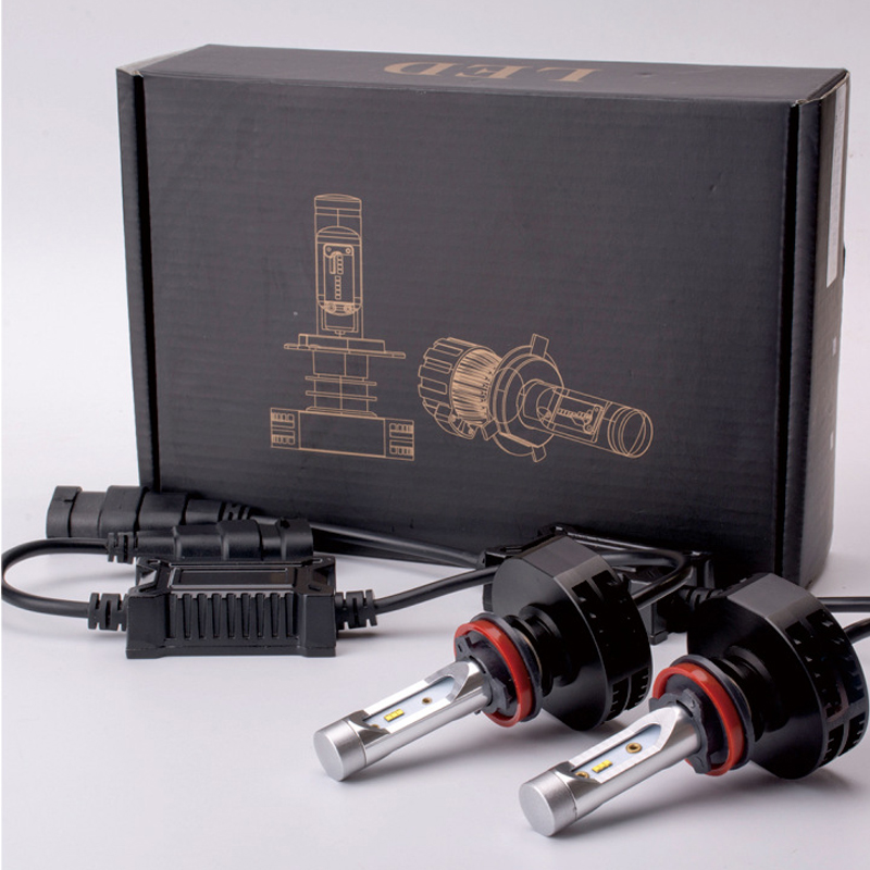 2Pcs LED Car Headlight Bulbs 50W CSP CREE Chips Bulb Automobile Headlamp 6500K Fog Lamp Car Light led car headlight bulbs kit 9006 hb4 csp 50w 8000lm 6500k 12v single beam cree chips automobile headlamp fog light lamp