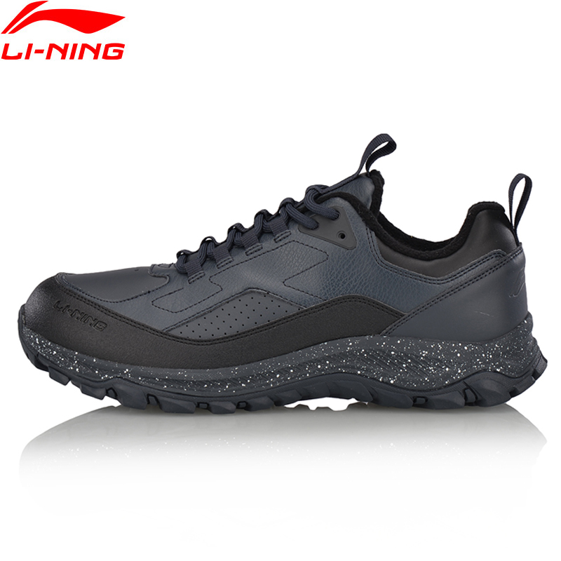 Li-Ning Men Shoes Hiking Boots Warm Shell Walking Sport Shoes Comfort Sneakers Skid-Resistance Li Ning Sports Shoes AGCM137 original li ning men professional basketball shoes