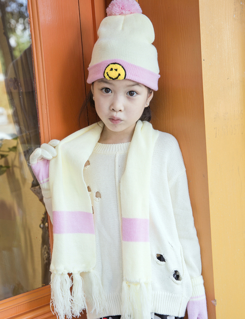 Wholesale 12 sets Children Cashmere Hat Scarf and Gloves Sets Autumn and Winter  Warm Soft Knitted fa8b6e02884f