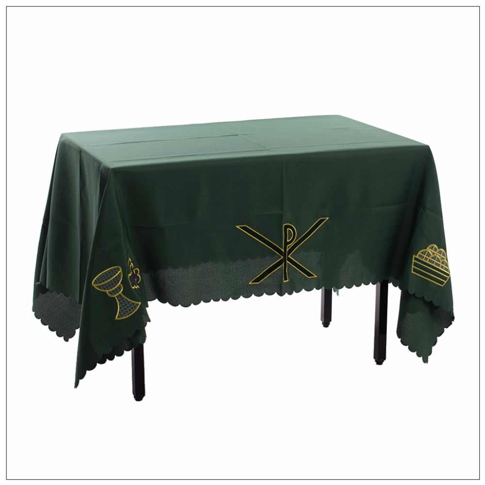 1 PC Gereja Altar Meja Communion Table Runner dengan Px Piala Pola
