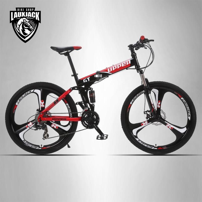 OBEREN mountainbike zwei-suspension system stahl klapprahmen 24 gang Shimano mechanische bremsscheiben leichtmetallrad