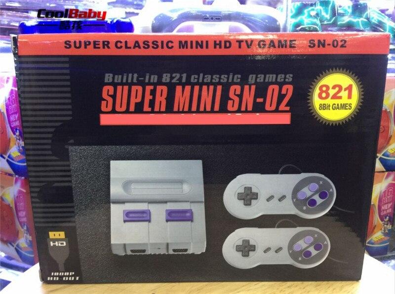 Nueva Mini consola de juegos de TV HDMI Salida de 8 bits consola de videojuegos Retro incorporada 821 diferentes juegos clásicos reproductor de juegos de mano