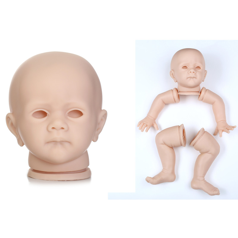 NPK 60 cm 24 inch Silicone Reborn Doll Kits High-grade imported soft silicone doll kits Exquisite Toddler DIY Accessory FOR doll