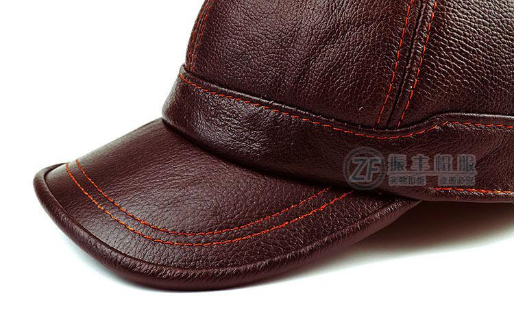 ... Genuíno Inverno Masculino Boné de beisebol Ao Ar Livre Tampa de  Proteção Da Orelha Chapéu de Couro B-8385. terno tamanho livre para 56-60  cm ajustável. 4d6ba2086d9