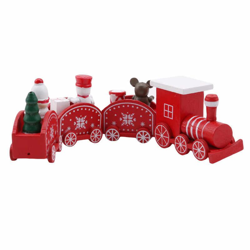 Креативные рождественские украшения для дома маленький поезд популярные деревянные поезд декоративные рождественские украшения новогодние поставки