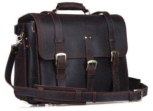 Весть путешествия рюкзак Приключения сумка Многофункциональный Пояса из натуральной кожи сумка 17 дюймов ноутбук 5049 - Цвет: dark brown