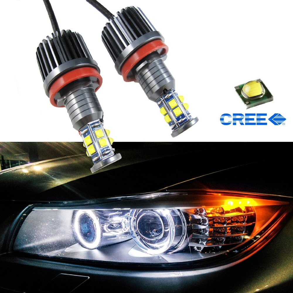 80W 7000K White H8 LED Angel Eyes Ring Marker Bulbs For BMW 1 3 5 X Series Z4 X5 X6