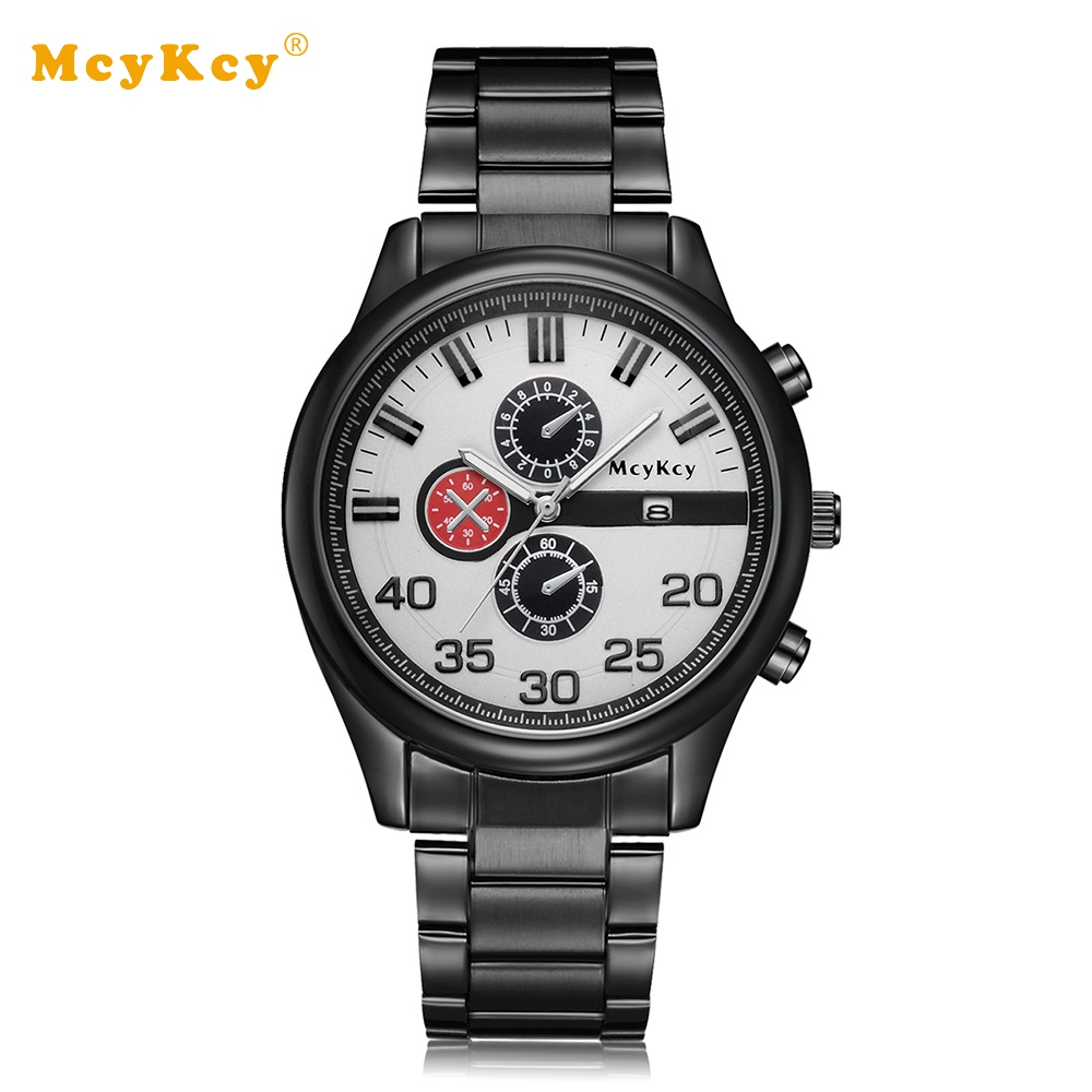 Mcykcy Brand Cheap Fashion Men Watches Steel Quartz Luxury Mens Wrist Watches For Male Dress Clock Mens Business Watch mcykcy brand luxury silver men watches stainless steel quartz wrist watch clock business sport male dress mens wristwatch