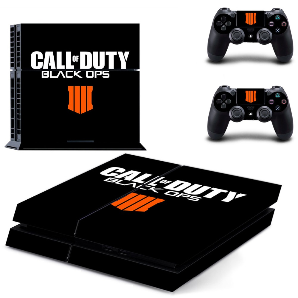 Call of Duty: Black Ops PS4 Full Skin Sticker Faceplates for Sony playstation 4 Console and Controller