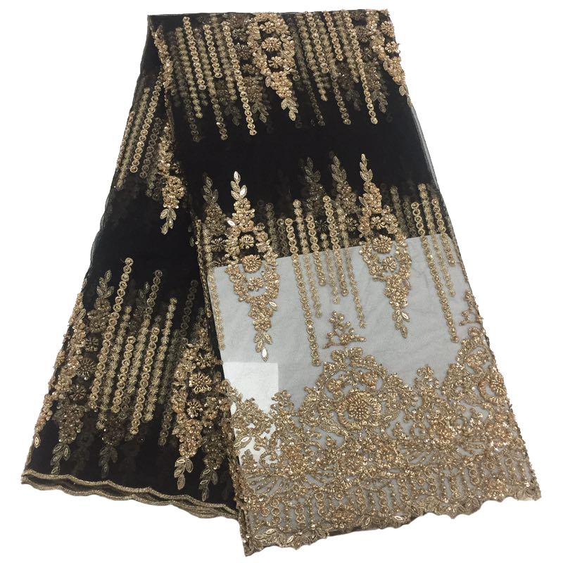 High Quality Net Lace French Voile Guipure tulle Lace with Rhinestones nigerian african lace fabric for