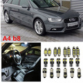 20 x Error Free White Interior LED Light Package Kit for AUDI A4 S4 B8 accessories reading lights door lights 2008-2014