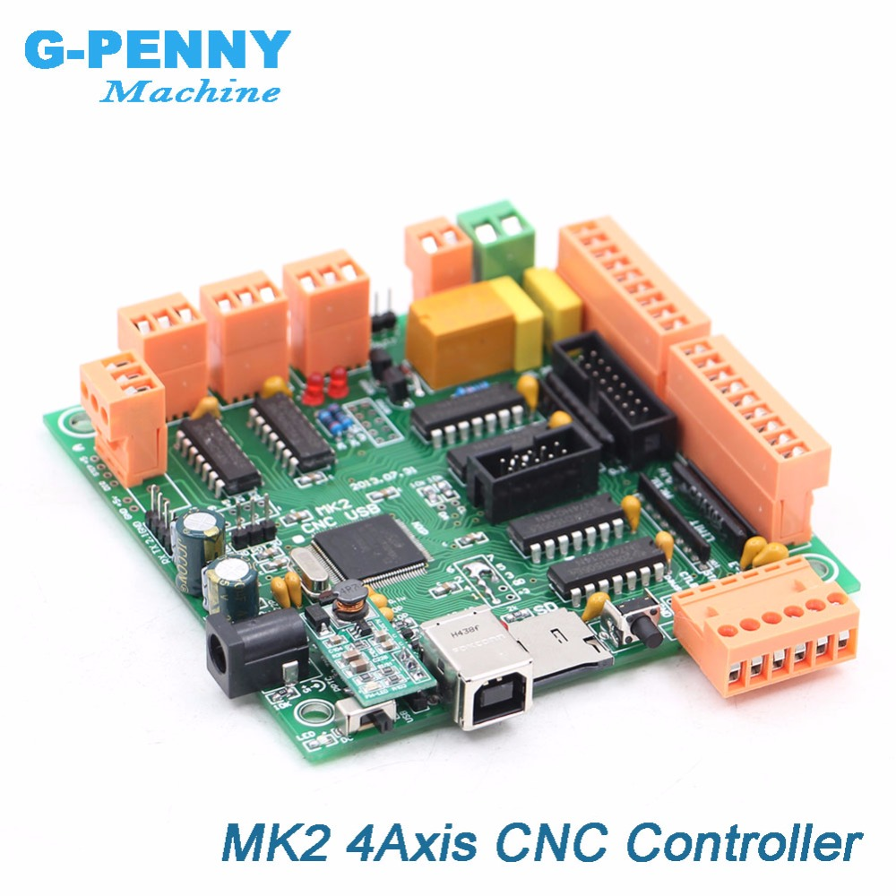 MK2 100Khz 4 axis controller board Instead of Mach3 4 axis interface CNC controller MK2/4 CNCUSB board for Stepper motor / Servo