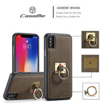 CaseMe Luxury Retro Stand Cases for Iphone X 6S 7 8 Plus Ring Magnetic Kickstand Phone Cover for Apple Iphone 6 6S 7 8 Plus X(China)