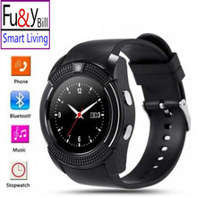 Original Reloj Del Deporte Del Reloj Inteligente de Pantalla Completa V8 Para Android partido Smartphone Apoyo TF Tarjeta SIM Bluetooth Smartwatch DZ09 PK Y1
