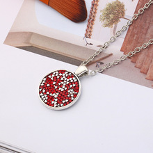 new Cone color geometric round Enamel Crystal Zircon necklace Rhinestone Cartoon Kawaii Cubic Zirconia Colorful pendant jewelry