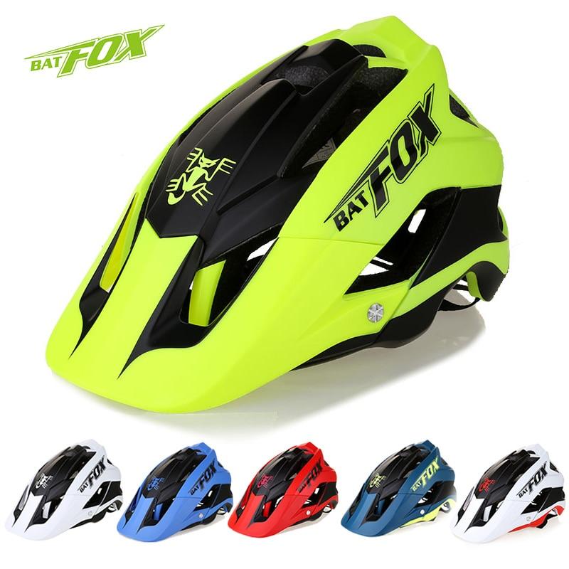 BATFOX Outdoor Sport Helm Männer Radfahren Helemt Frauen Mountain Road Bike Helm PC + EPS Fahrrad MTB Helm 56- 63 cm