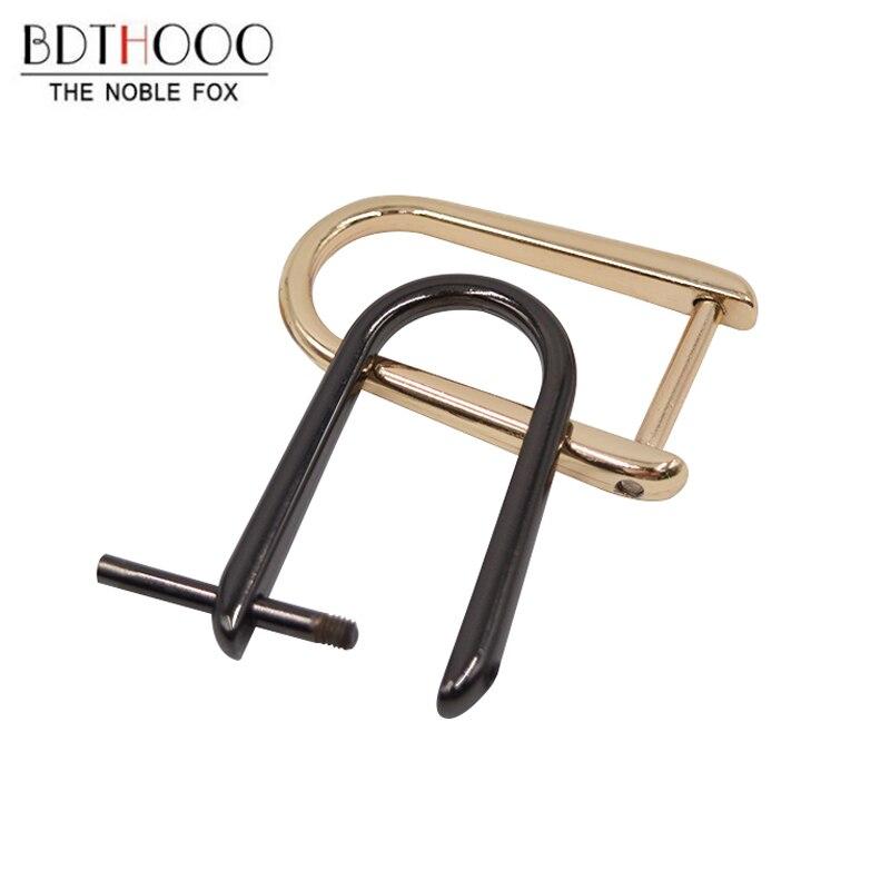 BDTHOOO 10pcs/lot Removable U Metal Screw Buckle For Leather Handbag Purse Strap Belt  D Ring DIY Bag Handle Accessories