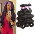 Mink brazilian hair wet and wavy virgin brazilian hair 4 bundles deals brazilian body wave 7A Brazilian virgin hair body wave