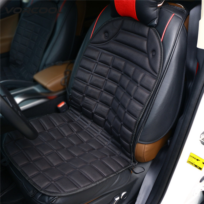 VORCOOL DC 12V Heated Seat Cushion Safe Van Auto Double