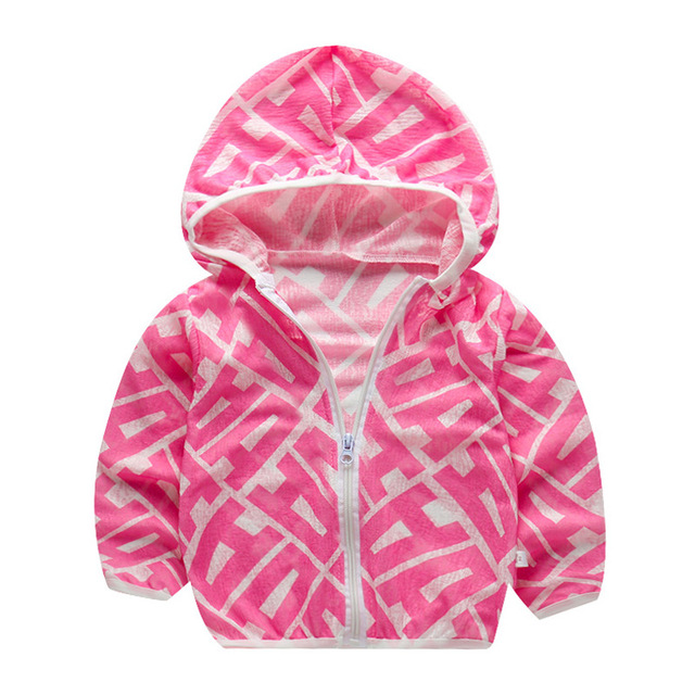 Shujin Summer Beach Sun Protection Jacket Shirt Baby Boy Hoodie Waterproof Coats Toddler Girls Wear Kid Windbreaker Clothing