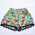 Ladies Fashion Hot High Waist Sexy Print Shorts Womens Casual Sky Blue Elastic Waist Shorts Hot Skorts S