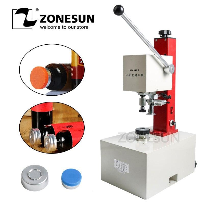 ZONESUN 10 35mm Penicillin Bottle Capper Antibiotics Bottle Crimper Perfume Oral Liquid Solution Electric Capping Machine