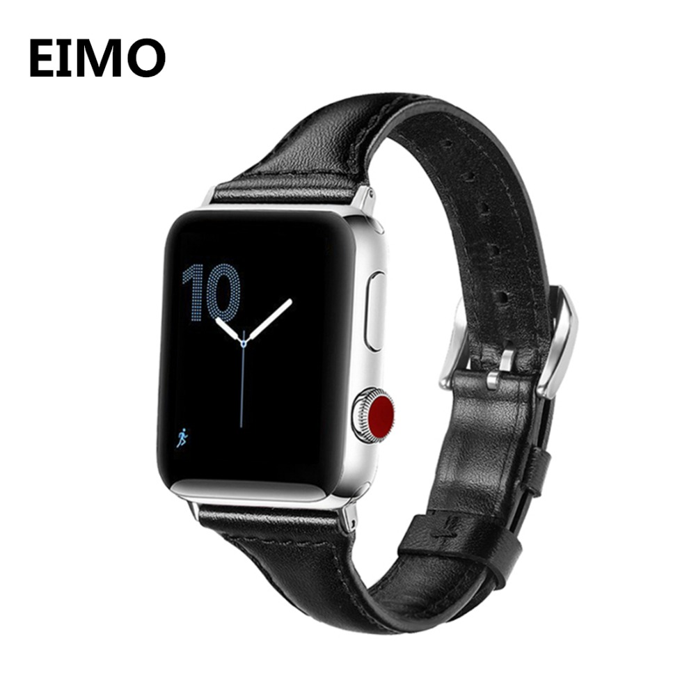 NEW Genuine Leather watch strap for Apple watch band 42mm/38mm bracelet wrist watchband for Iwatch series 3/2/1 + metal buckle цена и фото