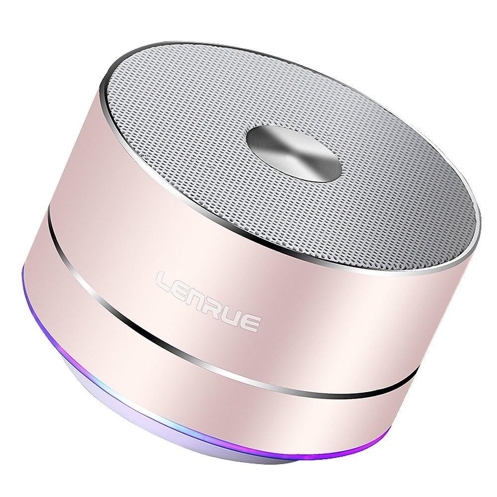 LENRUE Portable Sans Fil Bluetooth Haut-Parleur Stéréo Portable Led Haut-parleurs avec Mic Intégré MP3 MINI Caissons D'extrêmes Graves Smart Colonne Haut-Parleur