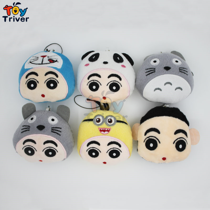 Wholesale Plush Totoro Cats Panda Toys Doll Keychains Keyring Pendant Accessory Birthday Party Wedding Promotional Gift Triver wholesale 100pcs cute panda doll plush toys bag purse keychain pendant birthday christmas wedding party small gift triver toy