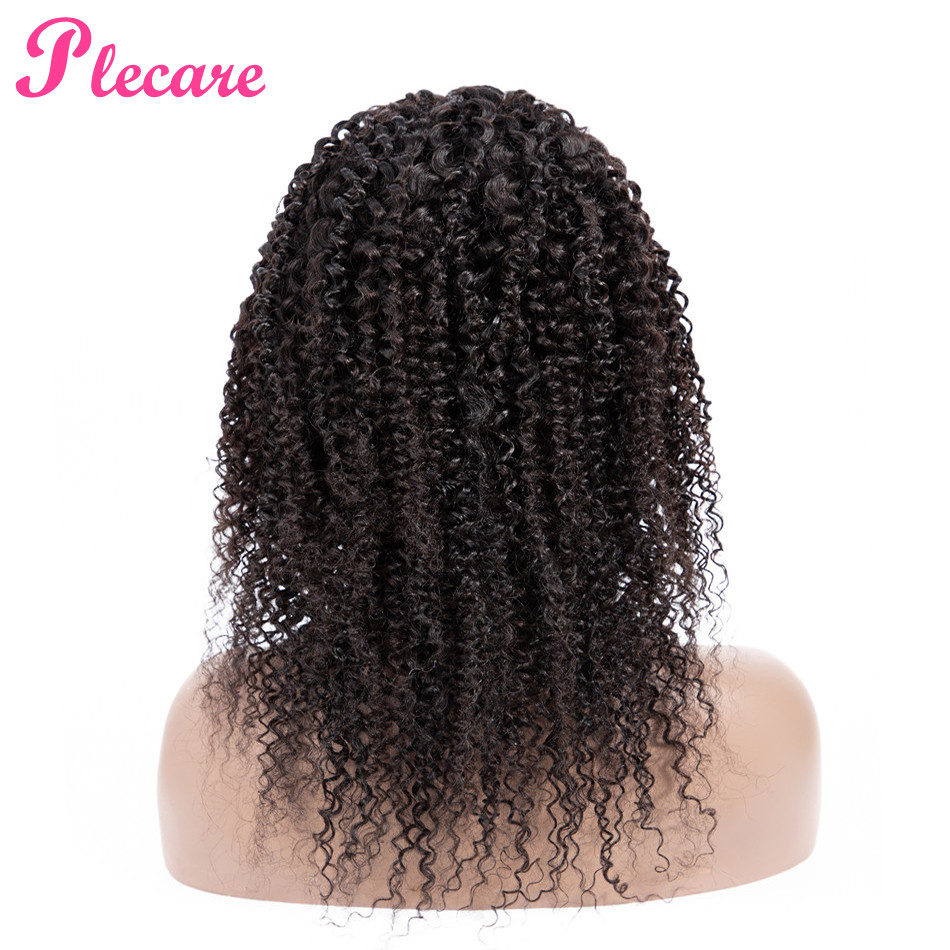 Plecare 4 4 Curly Human Hair Wig Lace Closure Human Hair Wigs For Black Women Brazilian