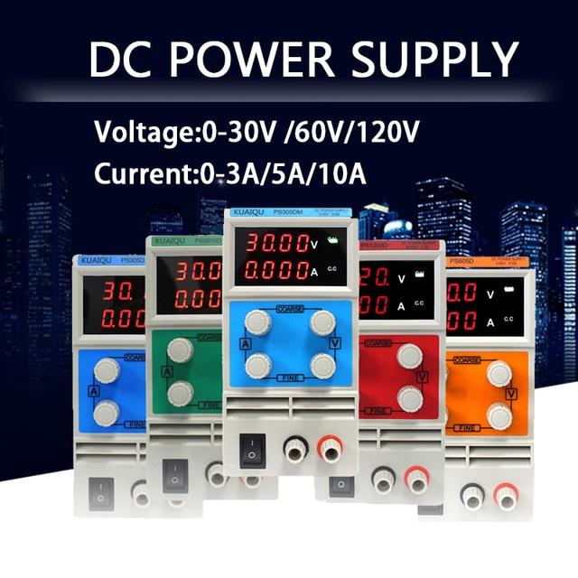KUAI QU 30V 5A Adjustable Switch DC Power Supply 30V 10A laboratory power supply LED display 60V 5A Regulator 110V-230V HOT!