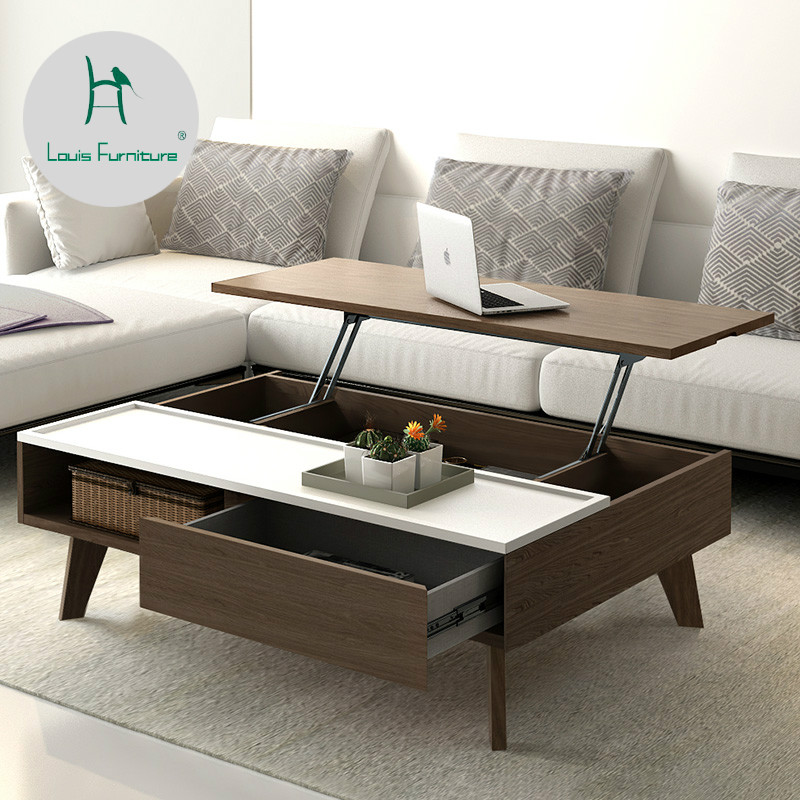 US $564.9 |Louis Fashion Cafe Tables Nordic Minimalist Modern Combination  Small Apartment Furniture Creative Personality Storage-in End Tables from  ...