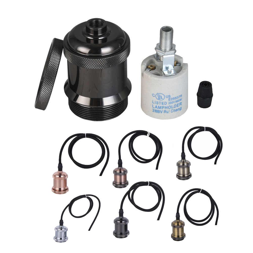 AC110-220V E27 Light Lamp Bulb Holder Flexible Extension Wire light Socket lamp holder base with six colors