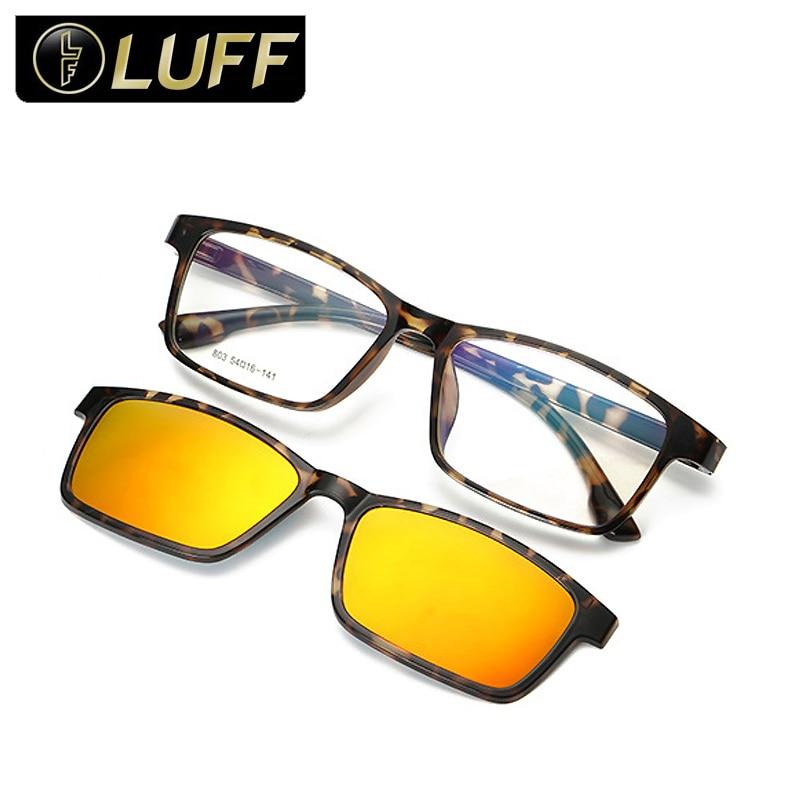 1f9a87faea976f Vintage Tendance myopie lunettes de soleil polarisées pour le degré de  lunettes hommes lunettes cadre clip conduite femmes Anti-UV 803
