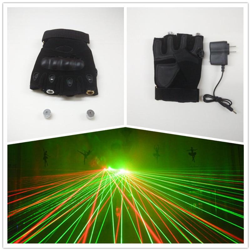 Velkoobchod Hot prodejní populární Laser Dancing Party Laser muž show rukavice s 532nm 2 ks Red Green Lasery doprava zdarma