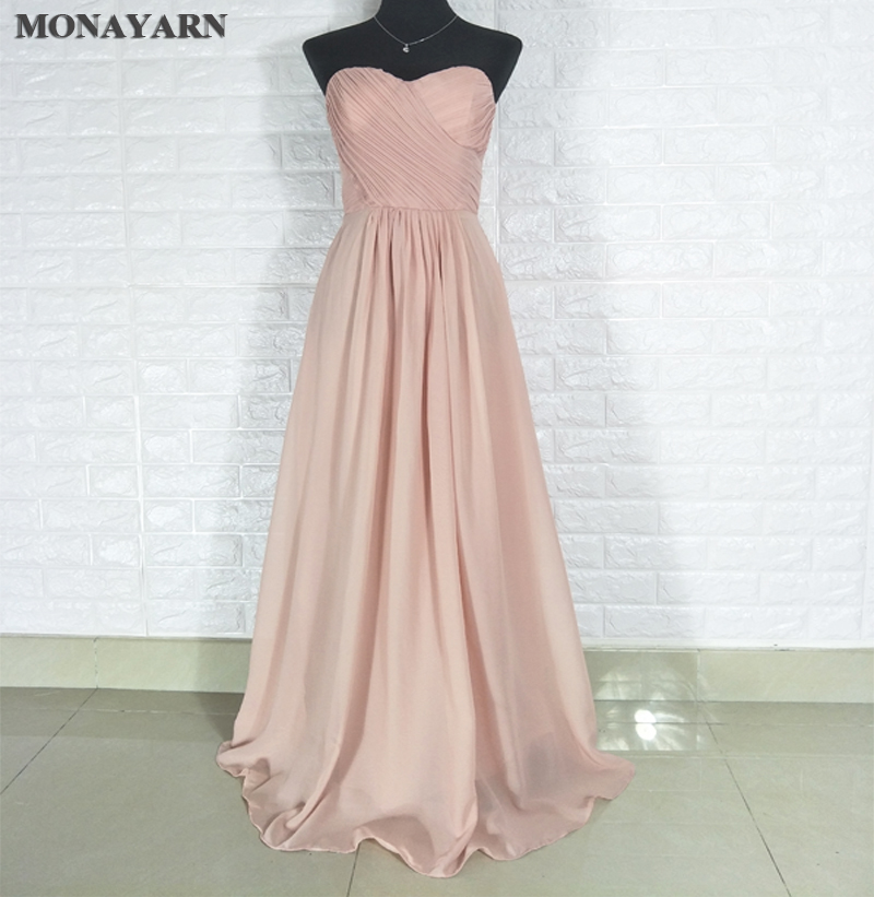 2017 free shipping Cheap Long   Bridesmaid     Dresses   2017 Hot Floor-Length Sweetheart Chiffon   Dresses   Sexy A-Line custom made size