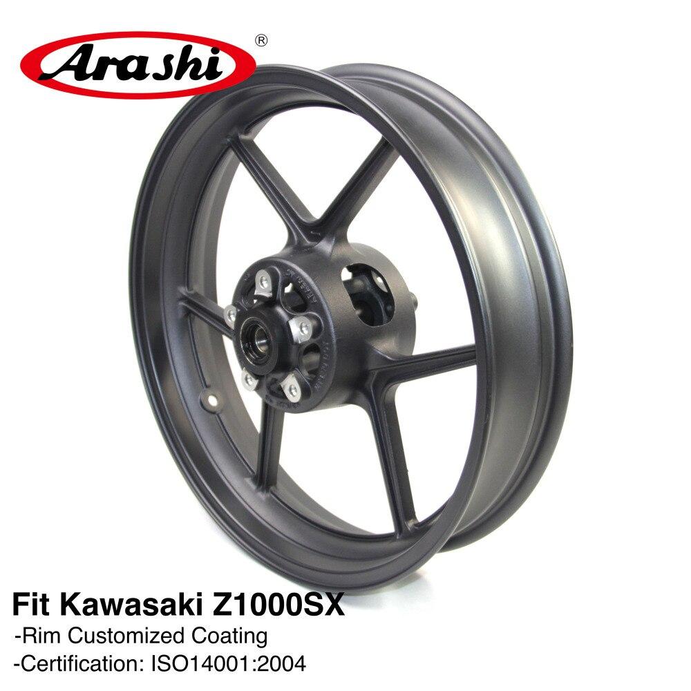 Arashi Z1000SX 2009 2011 Front Wheel Rim For KAWASAKI Z 1000 Z1000 SX 2009 2010 2011 Wheel Rims Z750 Z800 Motorcycle Black