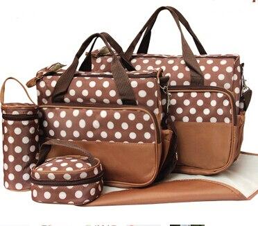 (5 pcs/set) Pregnant Women Bag Mummy Bag Large Capacity Multi-functional Mummy Messenger Shoulder Tote Diaper Bags Set