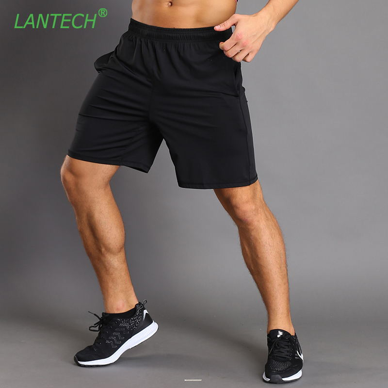 LANTECH Men Shorts Jogger Fitness Exercise Shorts Pocket Trousers Fashion Casual Breathable Quick Dry