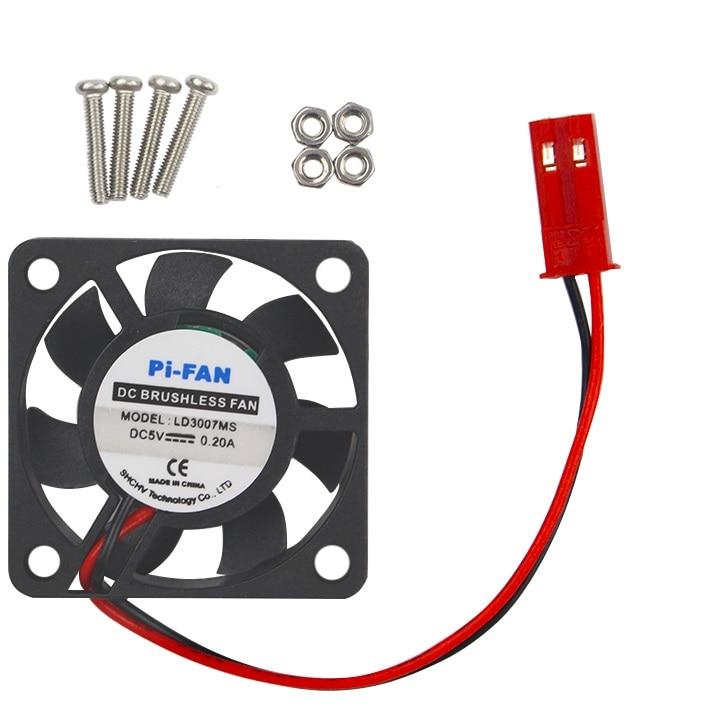 1PCS 5V 0.2A Cooling Cooler Fan for Raspberry Pi Model B+ / Raspberry Pi 2/3 tengying l298n motor driver board for raspberry pi red