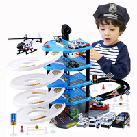New children 's parking lot toys multi storey track car model boy alloy car toy set gift