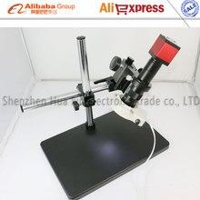 Newest 13MP HMID VGA outputs Industry Microscope Camera+Big Boom Stand Universal bracket+180X C-MOUNT Lens+56 LED Light