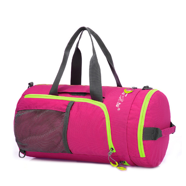 Multifuncional impermeable cambiante plegable suave weekender bolsa de viaje bolsa de Mensajero Hombro de las mujeres tote ocio barril bolsas de viaje
